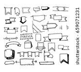 doodle hand drawn page designs. ... | Shutterstock .eps vector #659071231