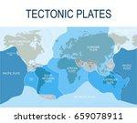 plate tectonics. earth's... | Shutterstock .eps vector #659078911