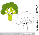 happy green broccoli to be... | Shutterstock .eps vector #659079001