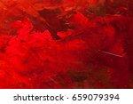 abstract oil paint texture on... | Shutterstock . vector #659079394