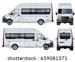 vector passenger van template... | Shutterstock .eps vector #659081371