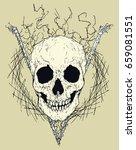 vector skull in triangle | Shutterstock .eps vector #659081551