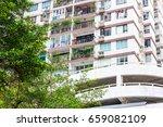 apartment building | Shutterstock . vector #659082109
