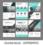 six trendy brochures templates... | Shutterstock .eps vector #659084941