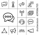 communicate icon set of 13