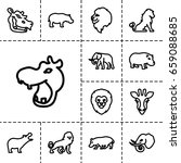 safari icon. set of 13 outline... | Shutterstock .eps vector #659088685
