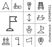 direction icon. set of 13...