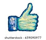 thumb up vector icon. van gogh... | Shutterstock .eps vector #659090977