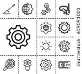 gear icon. set of 13 outline... | Shutterstock .eps vector #659091001