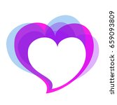 violet heart  on a white | Shutterstock . vector #659093809