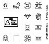 identity icon. set of 13...