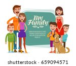 family banner. happy people ... | Shutterstock .eps vector #659094571