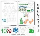 figure ten. dot to dot... | Shutterstock .eps vector #659094829