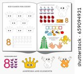 figure eight. dot to dot... | Shutterstock .eps vector #659094931