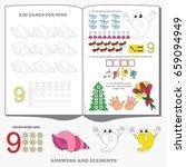 figure nine. dot to dot... | Shutterstock .eps vector #659094949