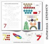 figure seven. dot to dot... | Shutterstock .eps vector #659094979