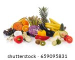 fruits and vegetables | Shutterstock . vector #659095831