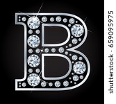 b vector alphabet letter made... | Shutterstock .eps vector #659095975