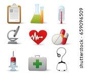 medicine heath icon set | Shutterstock .eps vector #659096509
