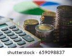 double exposure stock financial ... | Shutterstock . vector #659098837