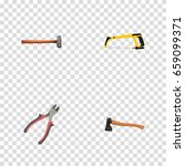 realistic arm saw  handle hit ... | Shutterstock .eps vector #659099371