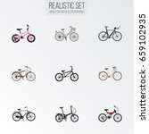 realistic competition bicycle ...   Shutterstock .eps vector #659102935