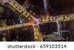aerial night view of a famous... | Shutterstock . vector #659103514