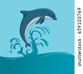 the dolphin jumping   Shutterstock .eps vector #659103769