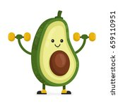 cute happy smiling avocado... | Shutterstock .eps vector #659110951