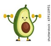 cute happy smiling avocado... | Shutterstock .eps vector #659110951