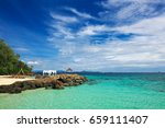 transparent sea and crystal... | Shutterstock . vector #659111407