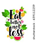 quote food calligraphy style.... | Shutterstock .eps vector #659112259