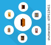 flat icon approach set of entry ... | Shutterstock .eps vector #659113411