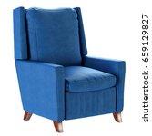 simple scandinavian style blue... | Shutterstock . vector #659129827