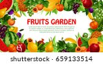 fruit and berry poster. apple... | Shutterstock .eps vector #659133514