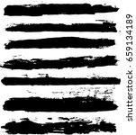 vector set of trendy black... | Shutterstock .eps vector #659134189