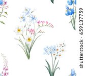 Watercolor Botanical Floral...