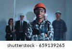 handsome african young builder... | Shutterstock . vector #659139265