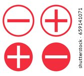 vector set of icons  plus and... | Shutterstock .eps vector #659141071