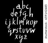 hand drawn elegant calligraphy... | Shutterstock .eps vector #659142685