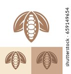 cocoa. icon set. abstract cocoa ... | Shutterstock .eps vector #659149654