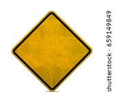 blank yellow road sign or empty ... | Shutterstock . vector #659149849