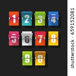 colorful counter with digits | Shutterstock .eps vector #659152081