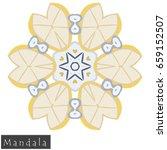 floral symmetrical geometrical... | Shutterstock .eps vector #659152507