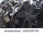 diesel engine of internal... | Shutterstock . vector #659154754