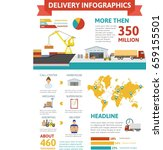 logistic infographic concept | Shutterstock .eps vector #659155501