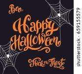 happy halloween hand made... | Shutterstock .eps vector #659155579