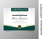 certificate premium template... | Shutterstock .eps vector #659155675