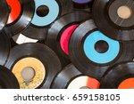 background of old vinyl records | Shutterstock . vector #659158105