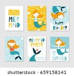set of cute creative card... | Shutterstock .eps vector #659158141